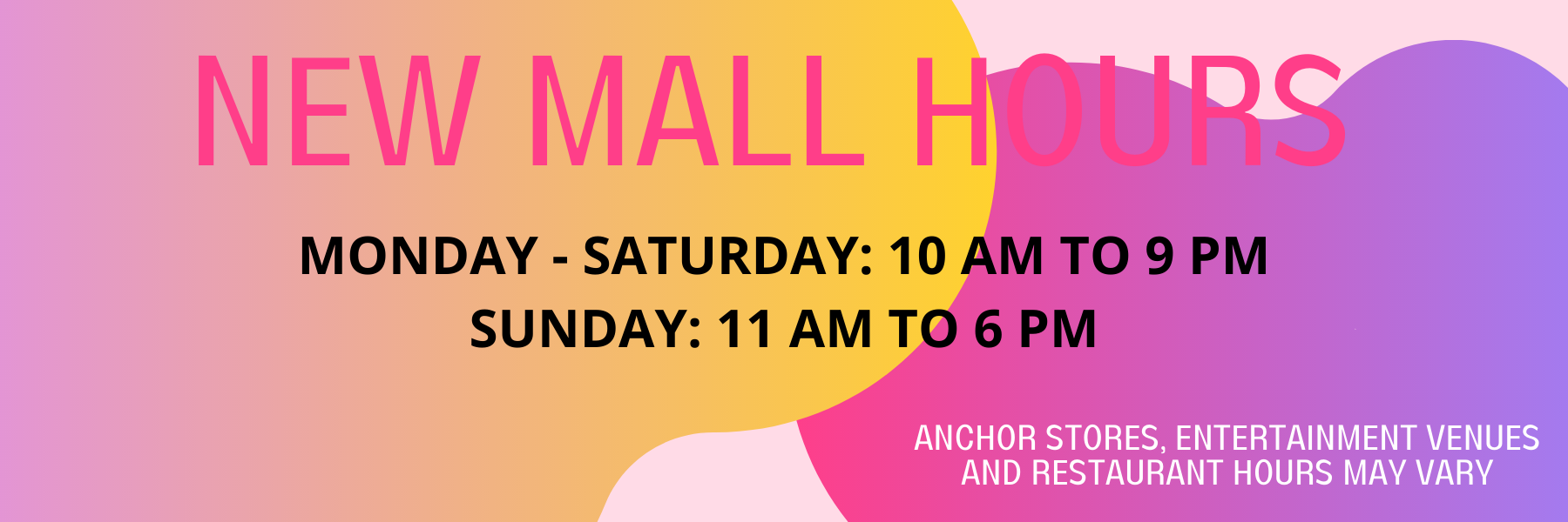 NEW MALL HOURS June