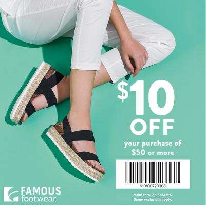 famous footwear sales