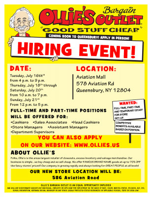 Ollies Hiring Event 2