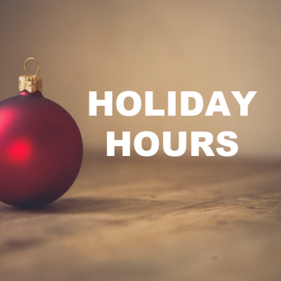 holiday hours secondary image