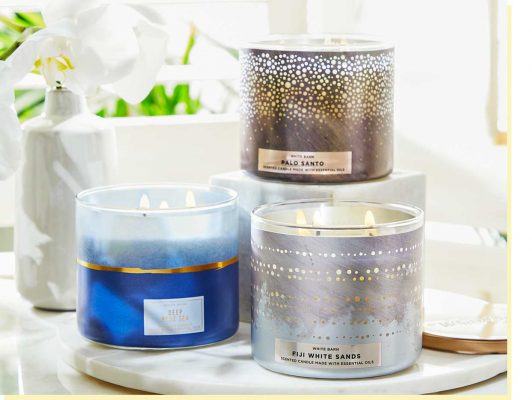 3 wick candles d